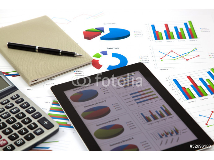 business workplace with stock market data 64238