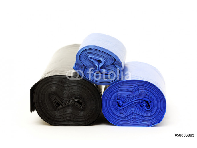 Fototapeta Garbage bags rolls on a white background 64238