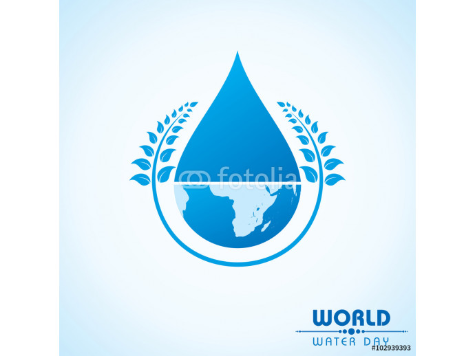 Creative World Water Day Greeting stock vector 64238