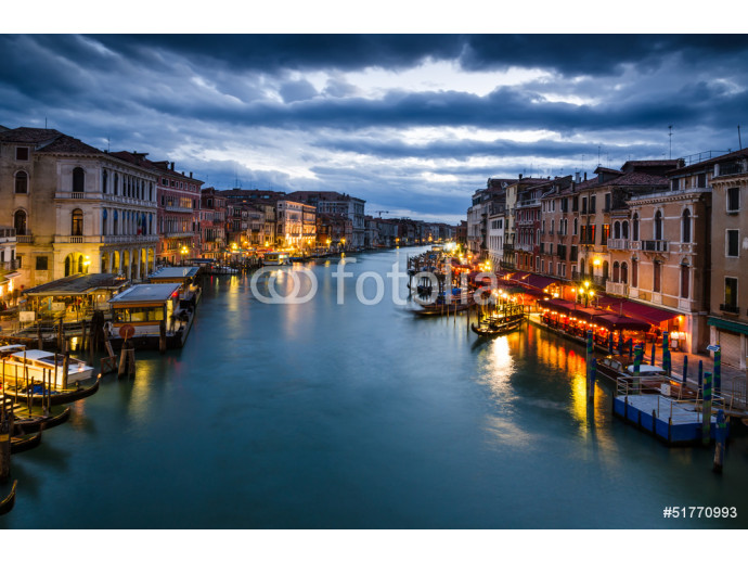 Grand Canal of Venice by night, Italy 64238