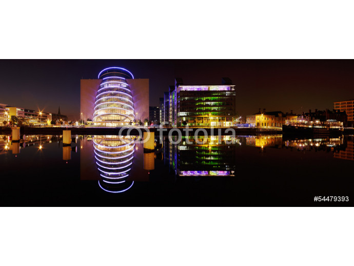 Dublin Convention Center and other buildings of the North banks 64238
