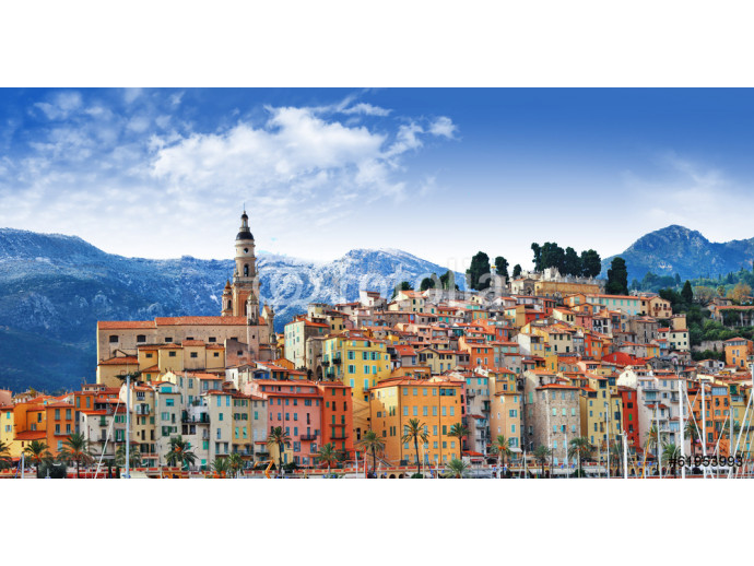 colors of Souther Europe - Menton - beautiful town, border Franc 64238