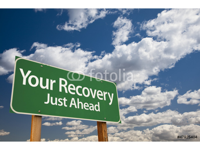 Fotomural decorativo Your Recovery Green Road Sign 64238