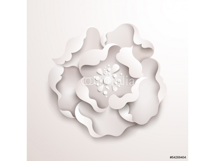 Abstract floral background. White paper flower 64238
