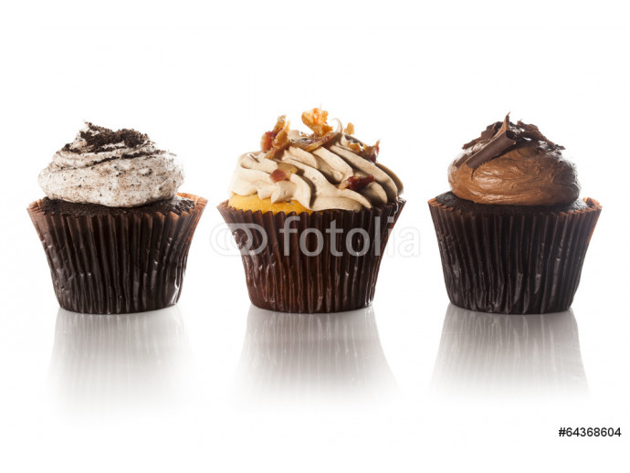 Assorted Fancy Gourmet Cupcakes with Frosting 64238