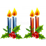 Christmas candles on white background 64238