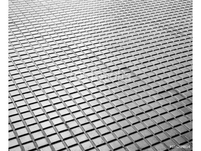 Grey brick pavement perspective background 64238