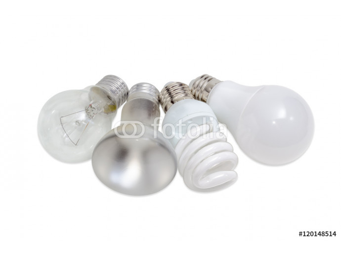 Various electric lamps of different types of electric lighting 64238