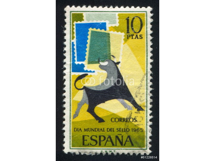 Bull and Symbolic Stamps 64238