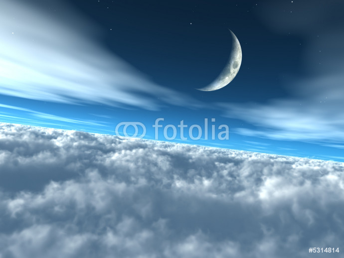 Above the Clouds Heavenly Lunar Sky 64238