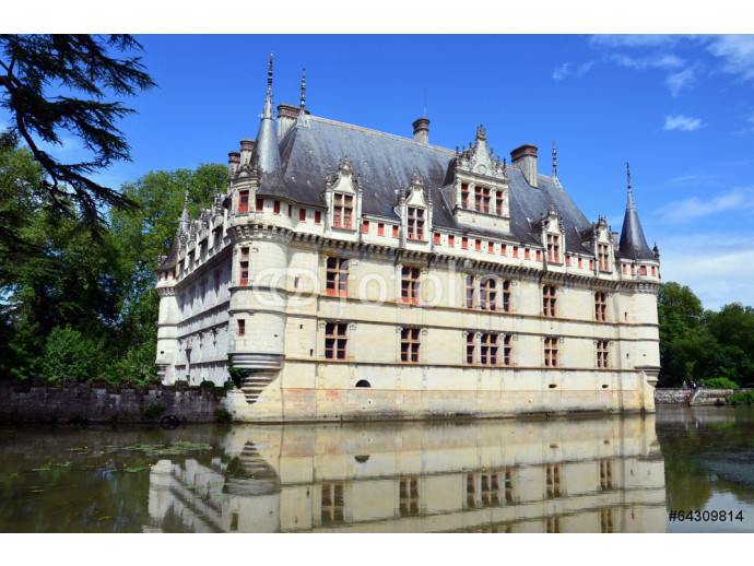 Azay-le-Rideau castle in the Loire Valley, France 64238