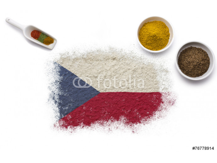 Spices forming the flag of Czech Republic.(series) 64238