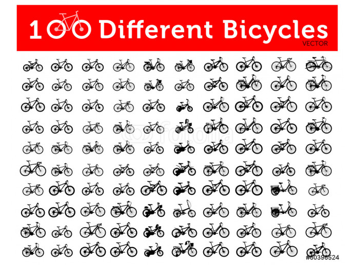100 Different Bicycles 64238