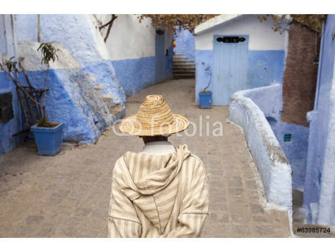 Street in medina of blue town Chefchaouen, Morocco 64238
