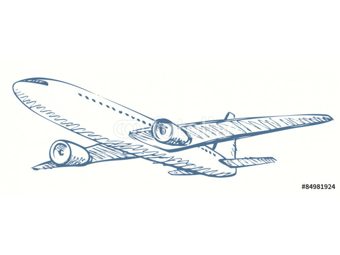 Plane. Vector drawing 64238