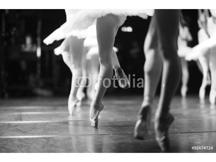 Effortless pirouettes, ballerinas performing on stage 64238