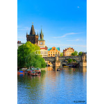 Pargue, view of the Lesser Bridge Tower and Charles Bridge (Karluv Most), Czech Republic. 64238