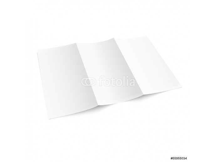 Blank trifold paper brochure. 64238