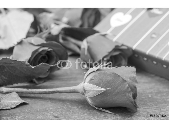 Fototapeta Pictures of roses and gifts for Valentine's Day. 64238
