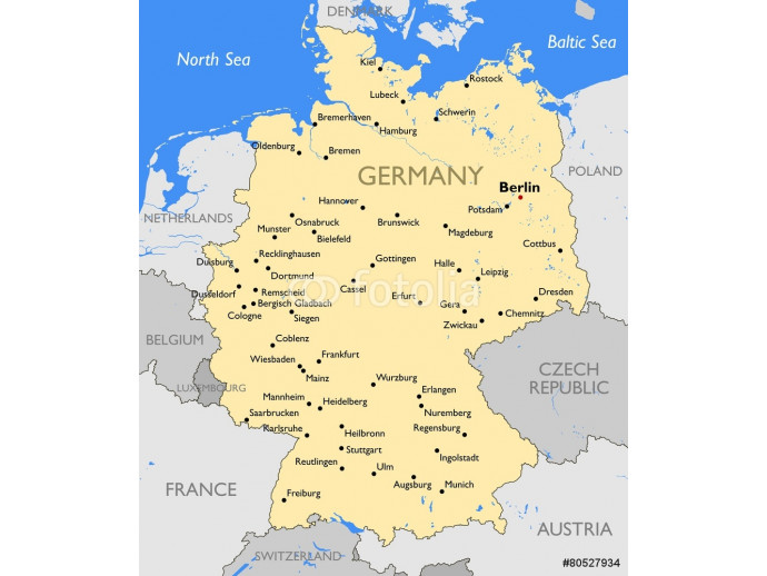 Germany map 64238