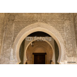 arched entrance to a mosque in the ancient medina of Fes 64238