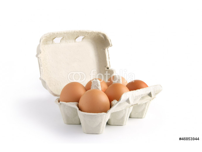 Six eggs in a box 64238