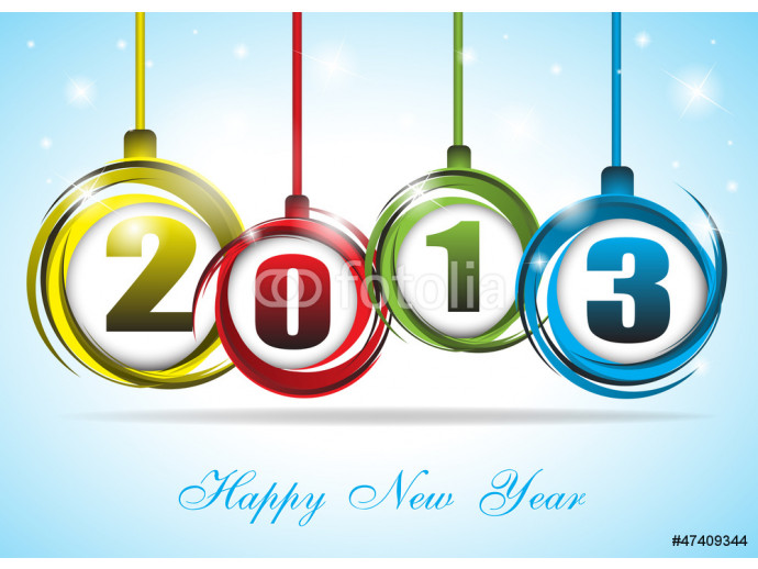 Cute and colorful card on New Year 2013 64238