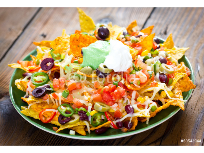 Nachos on the plate 64238