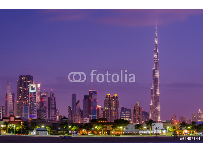 Downtown of Dubai (United Arab Emirates) in the sunset 64238