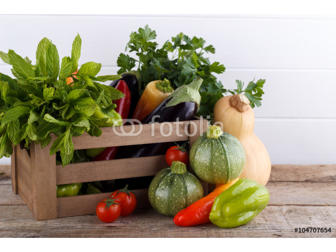 Fresh vegetables in a box 64238