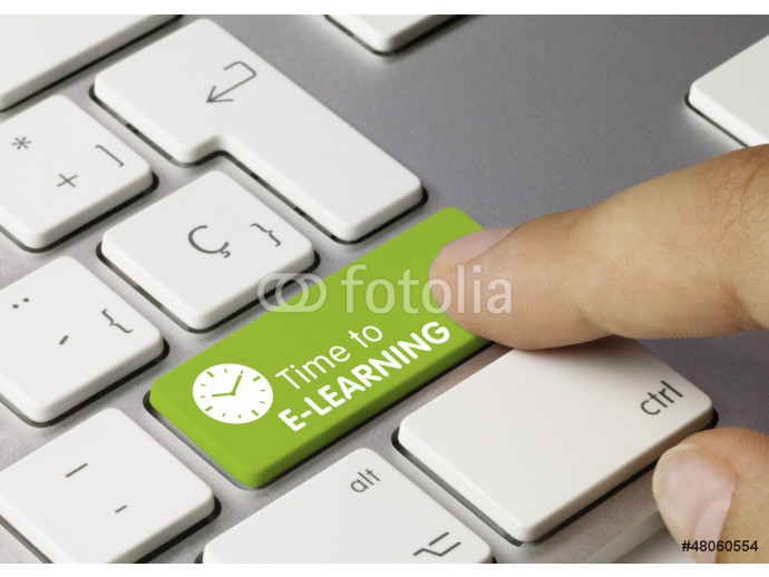Time to E-LEARNING keyboard key 64238