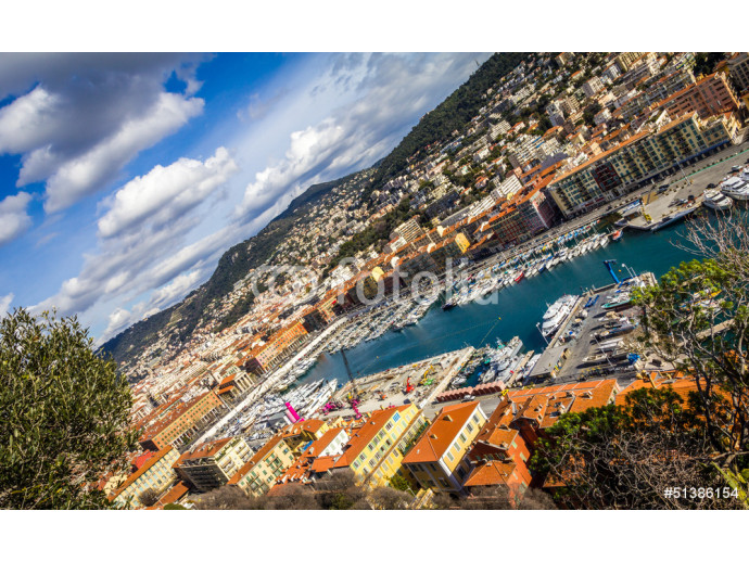View of the harbour from the Castle Hill, Nice, France 64238