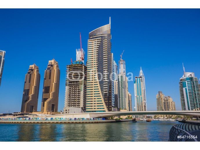 Fotomural decorativo  High rise buildings and streets in Dubai, UAE 64238