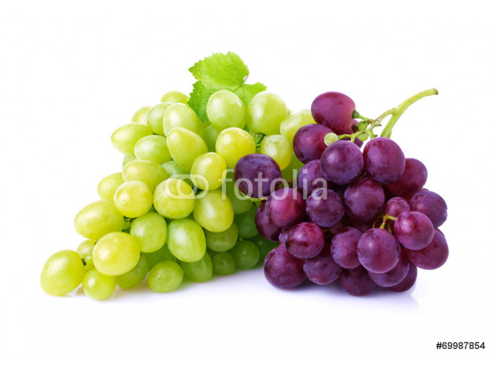 Grapes isolated on white. 64238