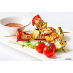 Skewered Chicken with vegetables 64238