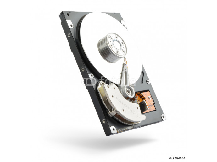Computer hard drive on white background 64238