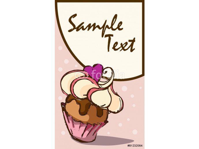 Card with cupcake 64238