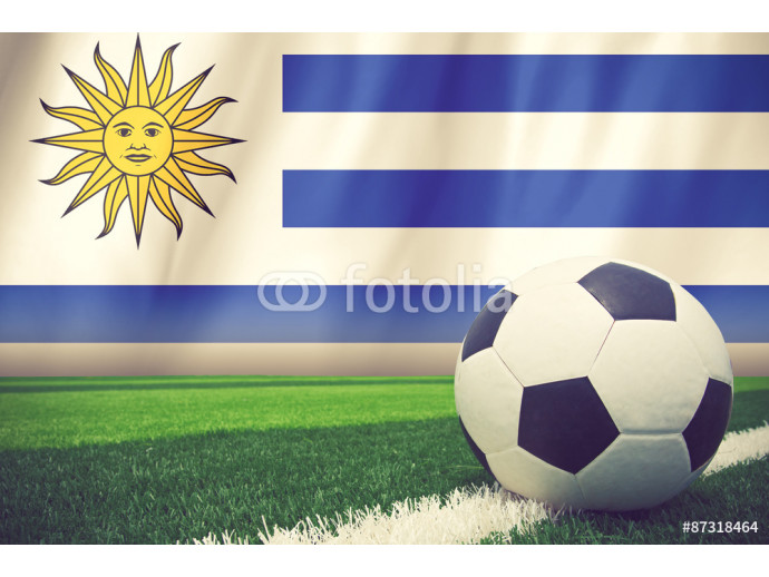 URUGUAY soccer ball vintage color 64238