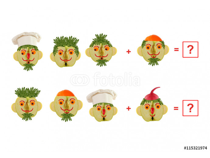 Cartoon faces of vegetables and fruits, as an illustration of ma 64238