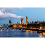 Big Ben and Westminster Bridge in the Evening, London, United Ki 64238