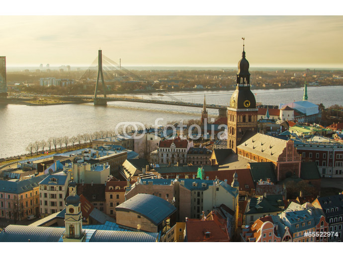 Riga (Latvia)  in the evening.  The view from St.Peter's Church 64238