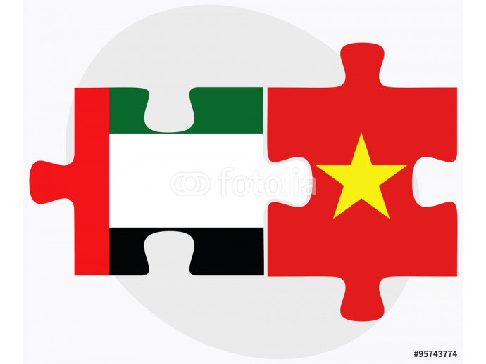 Fototapeta United Arab Emirates and Vietnam Flags 64238