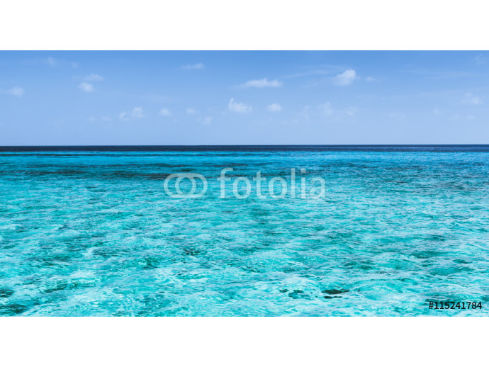 Panorama of tropical lagoon on the island in Indian Ocean. 64238