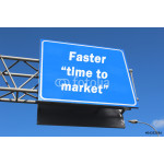 Faster time to market - highway sign 64238