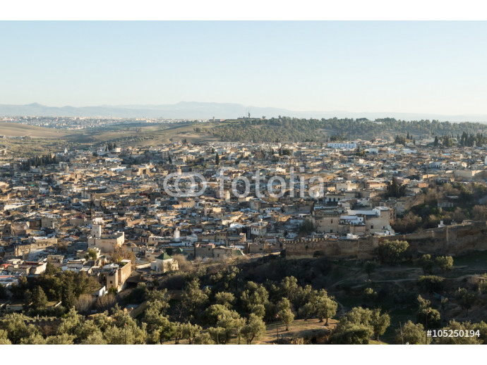 Fototapeta view of the ancient medina of Fes 64238