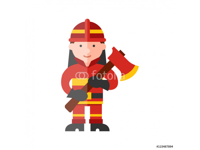 firefighter flat icon 64238