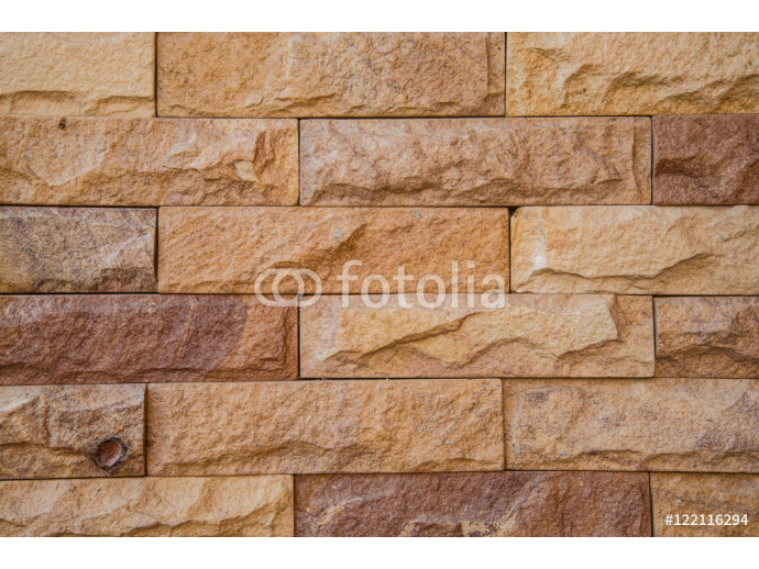 The stone brick wall textured background. 64238