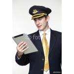 Young man in the form of a passenger plane pilot 64238