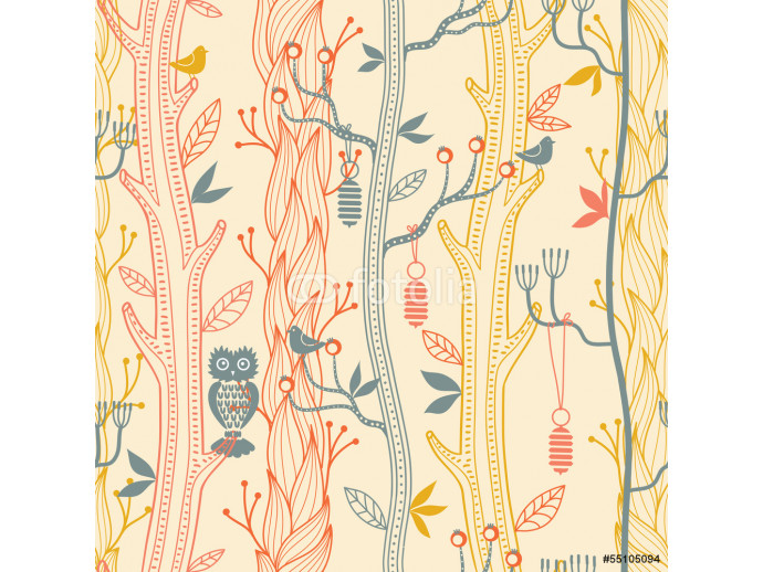Forest seamless pattern 64238