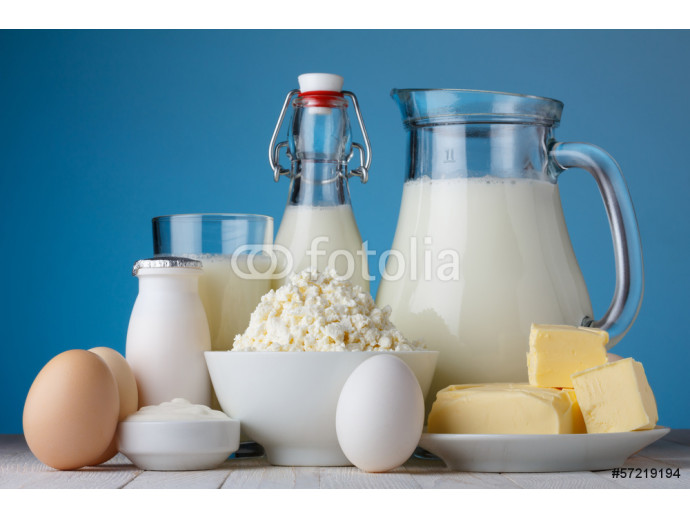 Dairy products, milk, cottage cheese, eggs 64238
